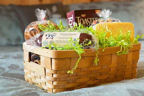 Amish Country Lodging Welcome Basket - Meats, Cheeses, Chocolates