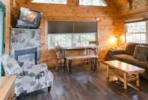 The Evergreen Log Cabin living room