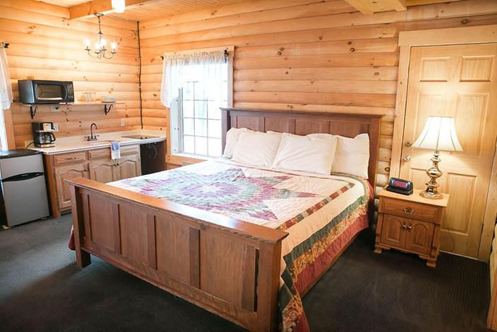 Bedroom in a Berlin, OH Cabin Rental