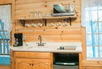 Kitchen of the Hawk's Nest Cabin in Berlin, Ohio