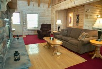 Humminbird Haven Cabin Rental in Amish Country - Living Room
