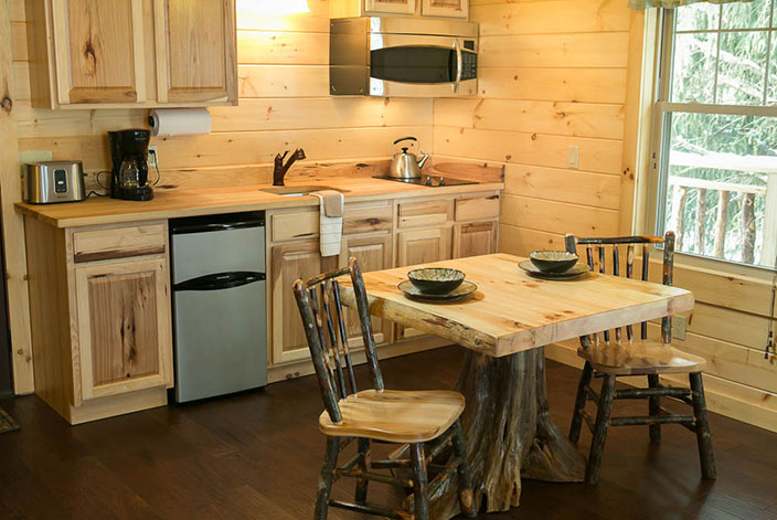 Kitchen in an Amish Country Cabin