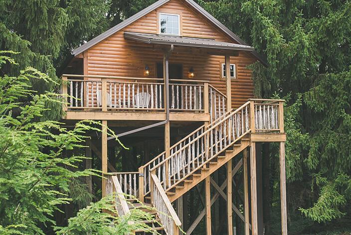 Lofty Willows Tree House exterior