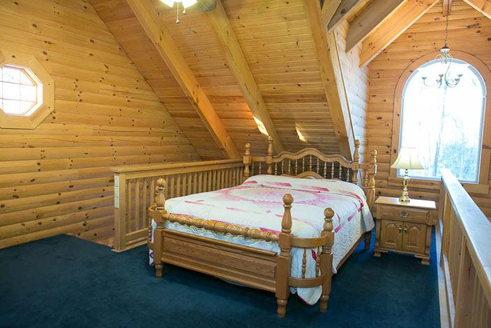 Loft in a Holmes County Cabin Rental