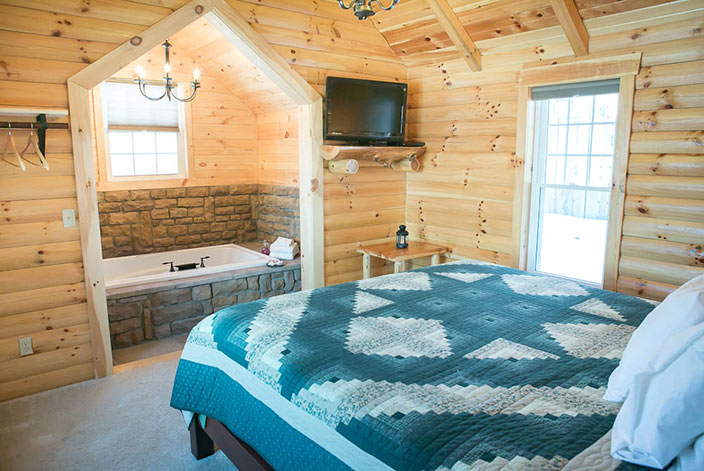 Holmes County Cabins Stunning Berlin Cabin With Private