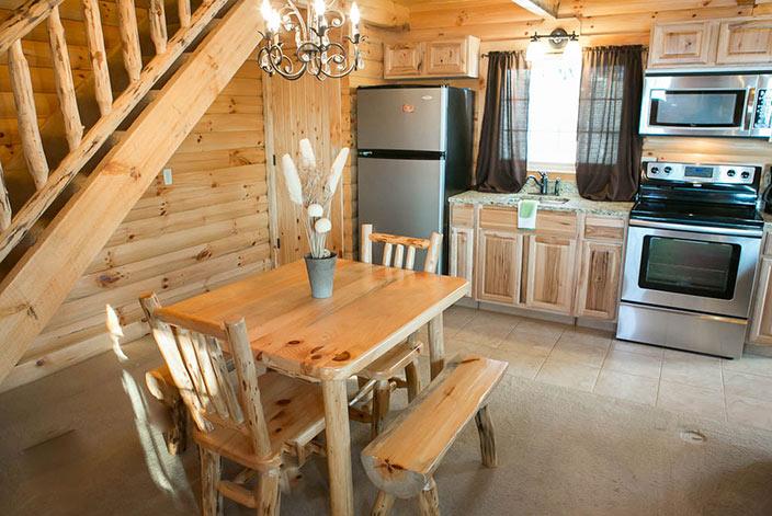 Full Kitchen in a Cabin Rental in Berlin, Ohio