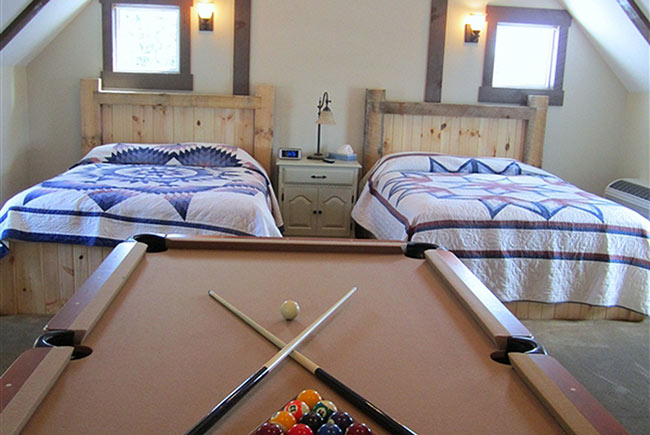 Village Dreams Cottage beds and pool table
