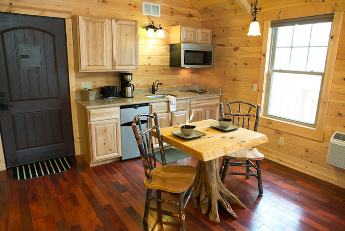 Whisperine Pines Treehouse Kitchen - Cabins in Amish Country