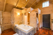Whispering Pines Tree House bath