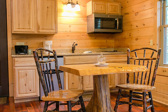 Whispering Pines Tree House kitchen