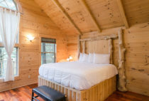 Whispering Pines Tree House bed