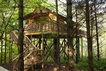 Wild Cherry Romantic Treehouse Cabin in Amish Country