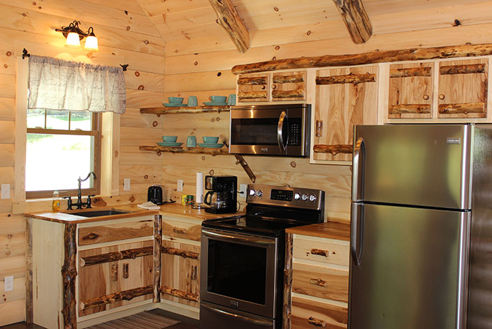 Full Kitchen in a Berlin, OH Cabin