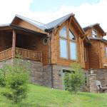 A large log cabin