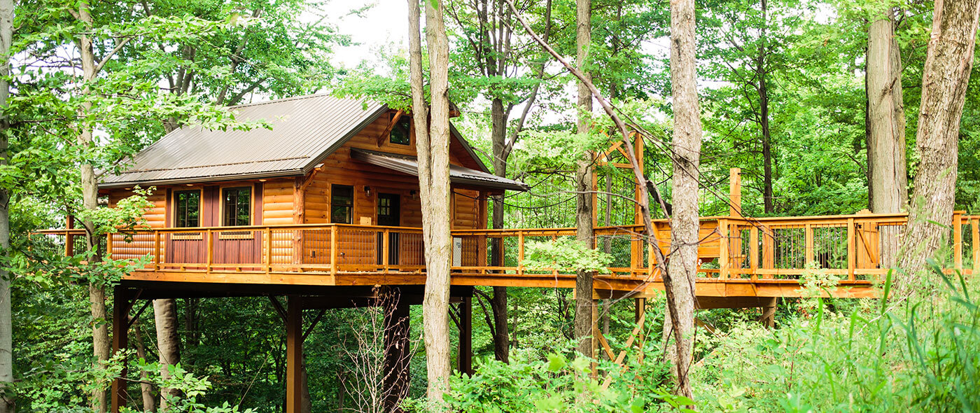 Treehouse Pictures The Best Treehouse Rentals In Ohio Book Here