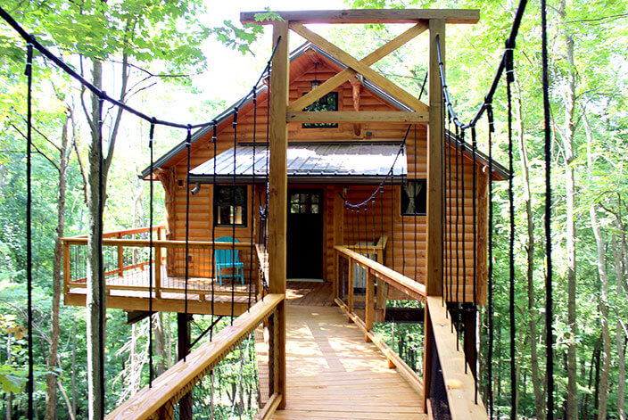 Discover One of the Most Romantic Cabin Getaways in Ohio - Covered Porch Pictures