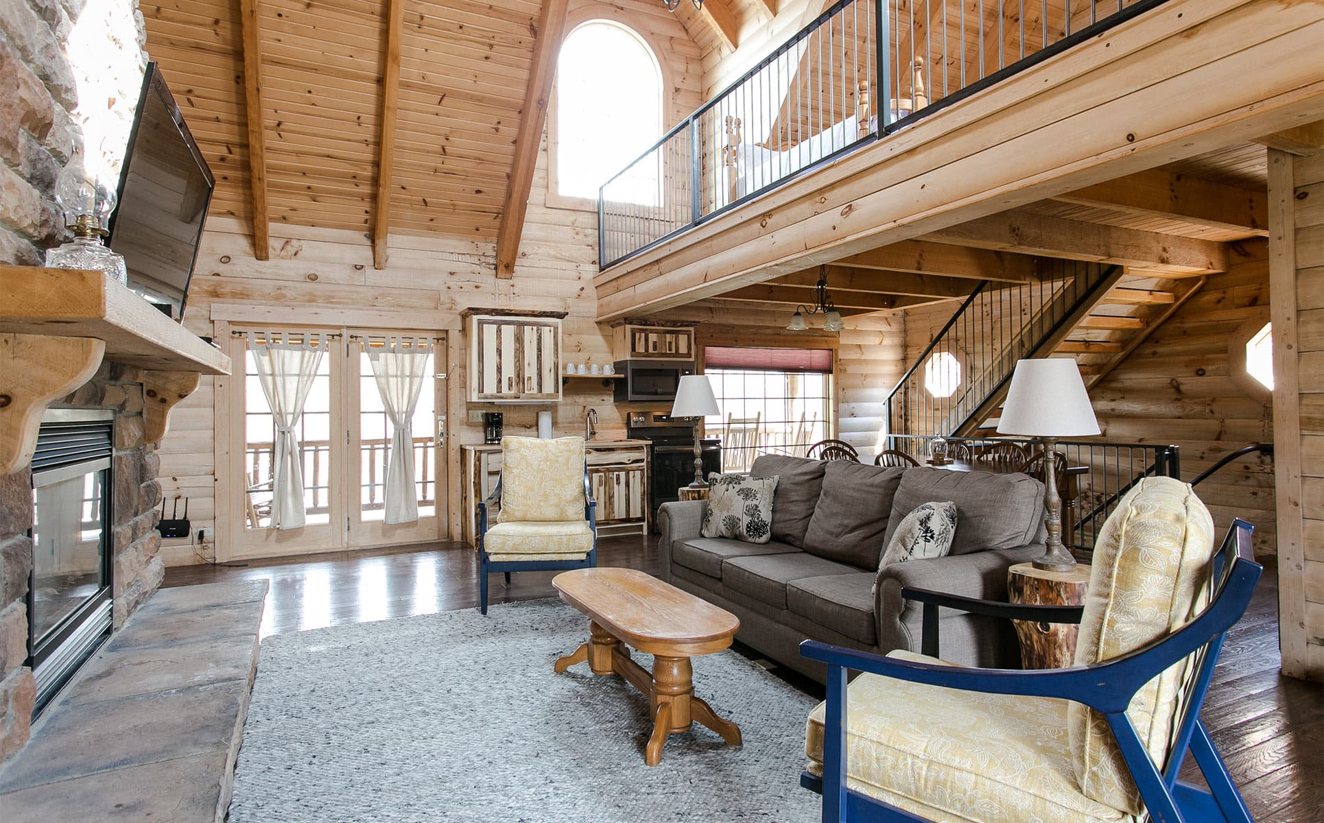 Living Room with Loft Above