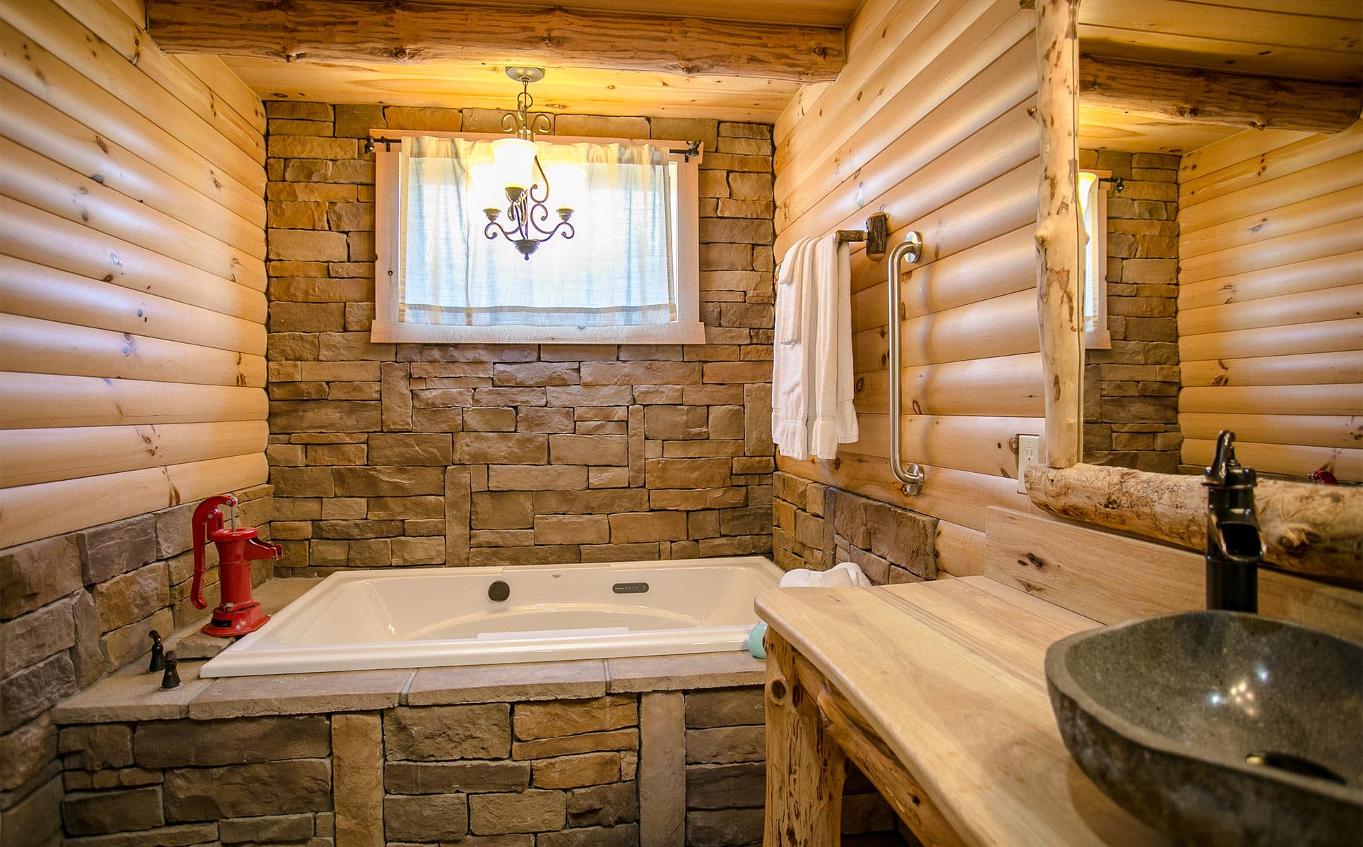 Upstairs Bathroom with 2-person jetted tub
