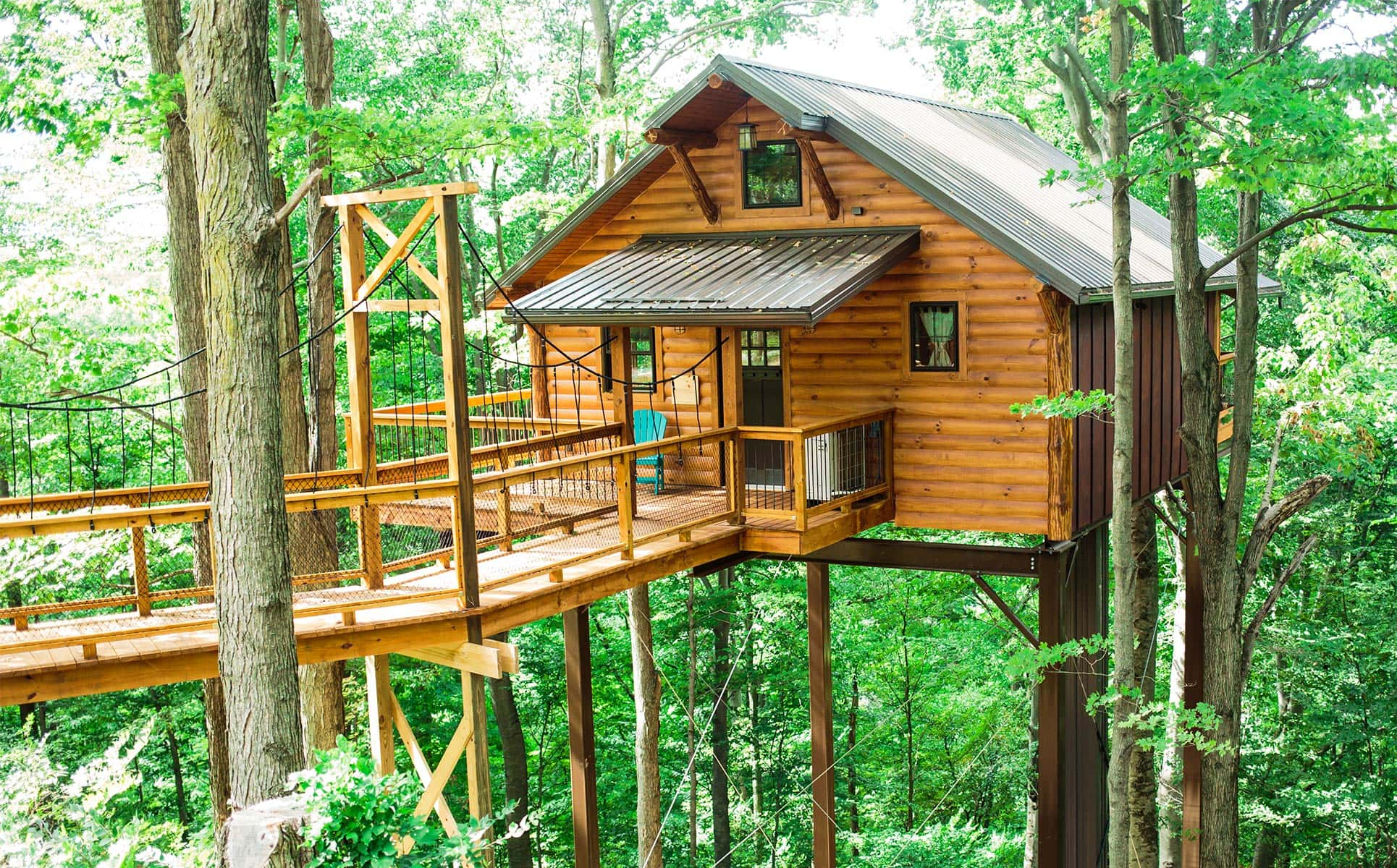 Picture of: Berlin Ohio Treehouses Rustic Treehouse Lodging In Amish Country
