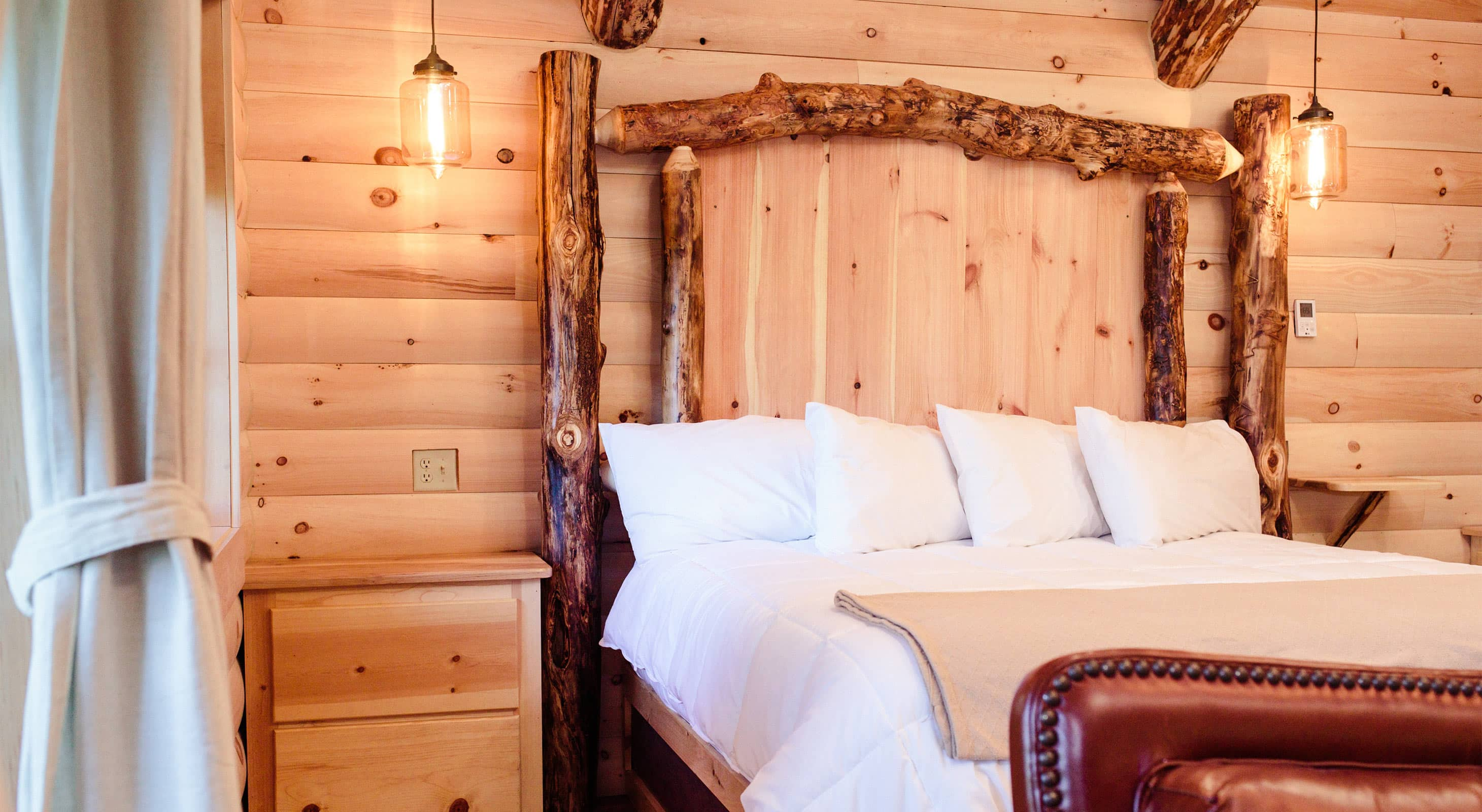 Log Bed in Treehouse #6