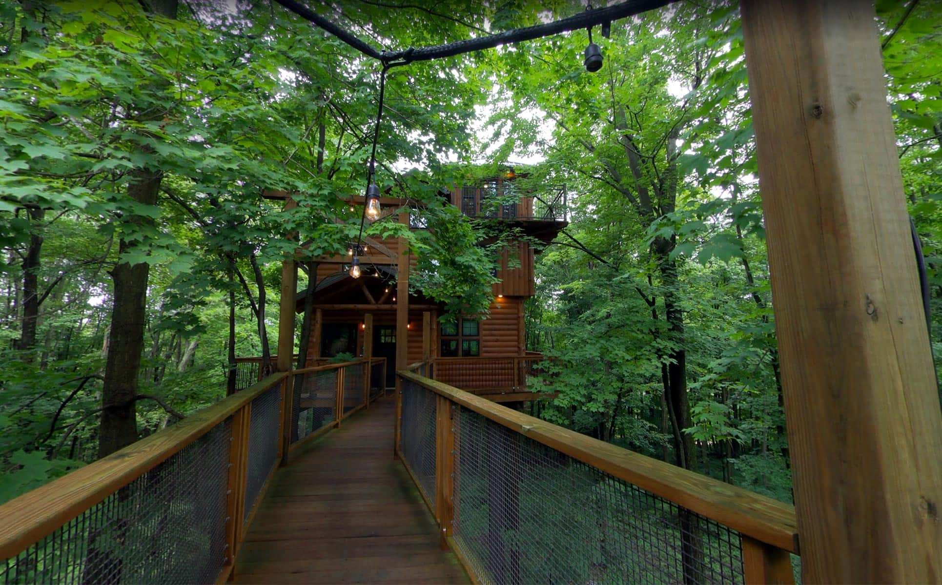 Exterior of Double story treehouse