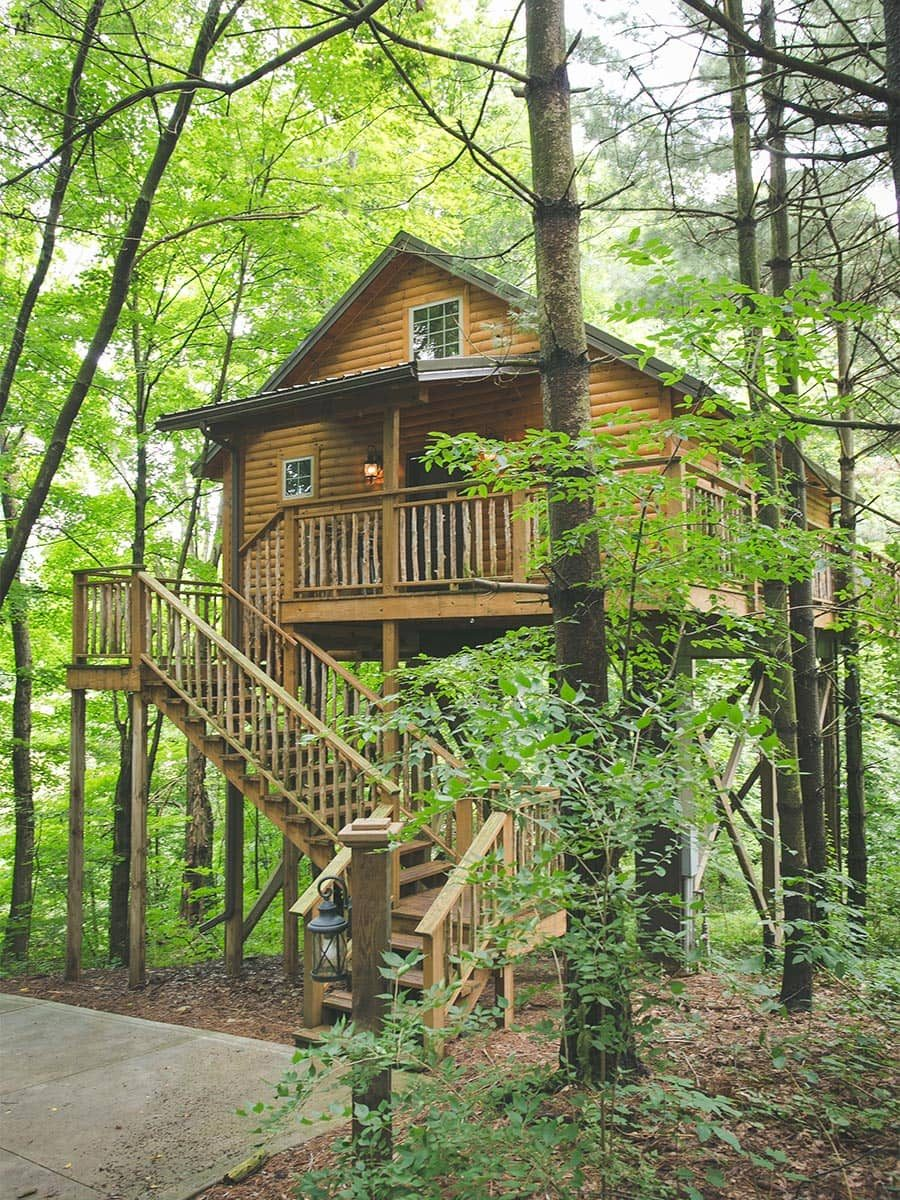 Exterior of Wild Cherry Treehouse