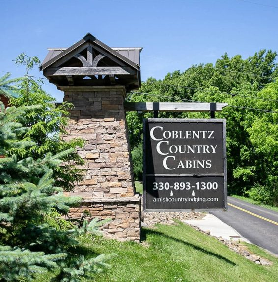 Coblentz Country Cabins Sign