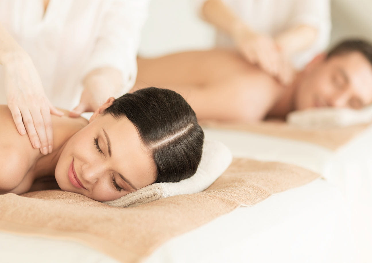 Couple receiving a massage