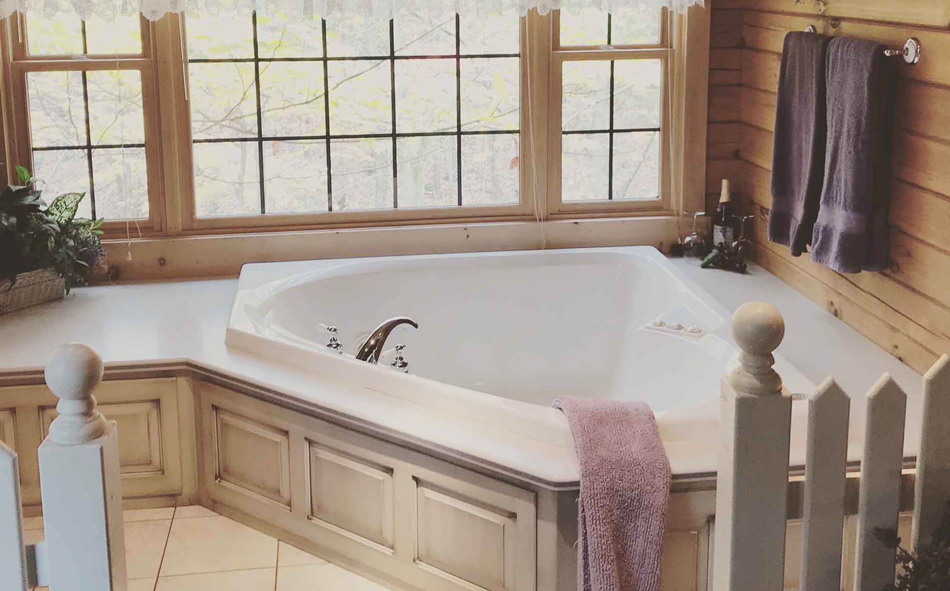 Apple Blossom Cabin jetted tub