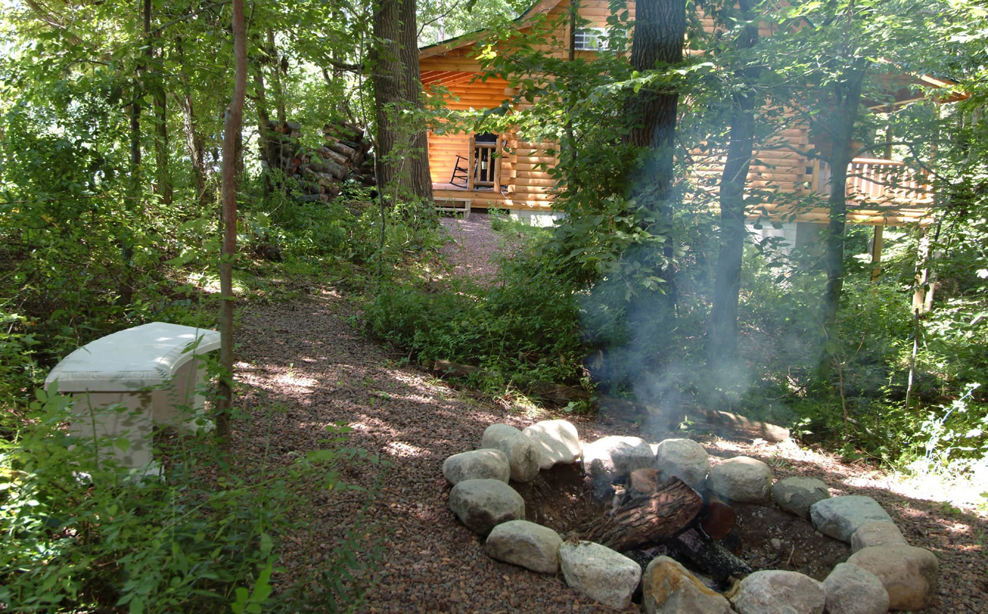 Wild Rose Cabin fire ring