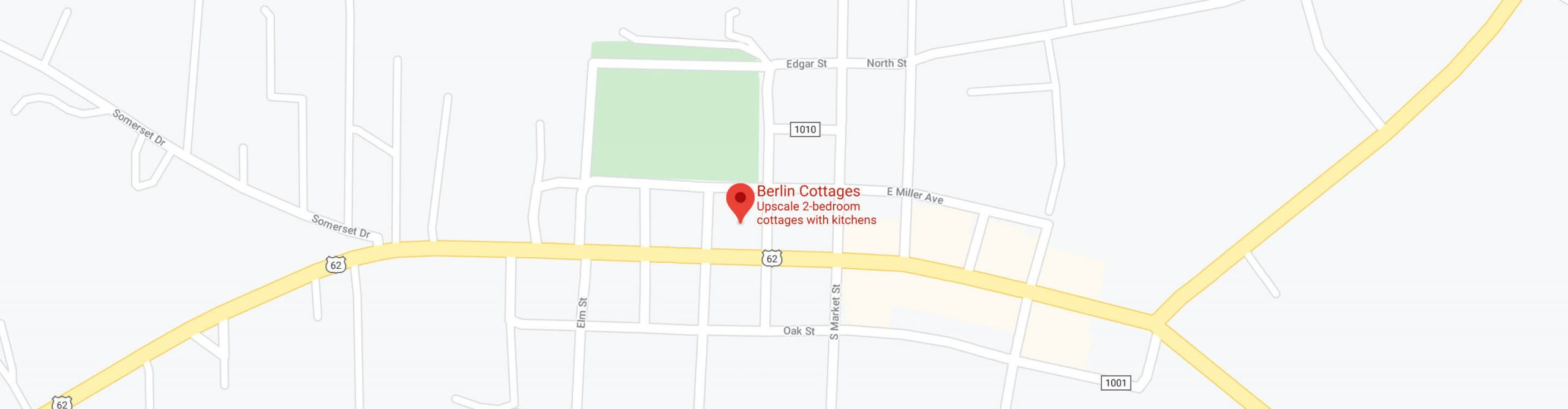 Map showing Berlin Cottages