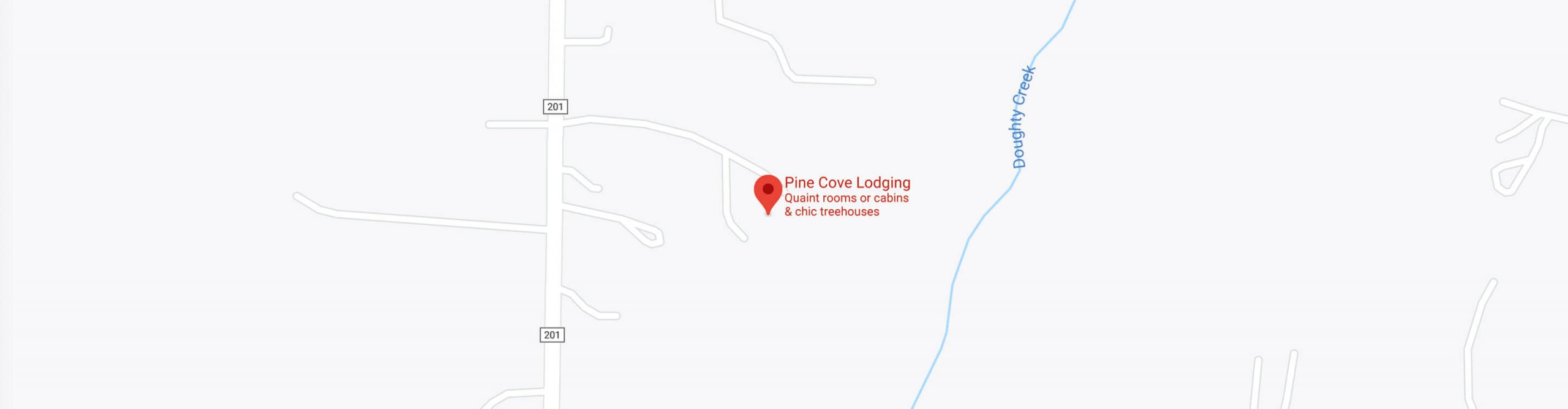 Map of Pine Cove Lodging