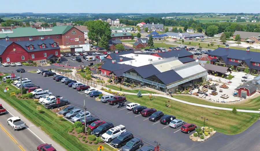 Sheiya Market from above - a top Amish country attraction